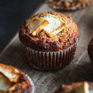 Muffinki jabłkowe na mące migdałowej i gryczanej