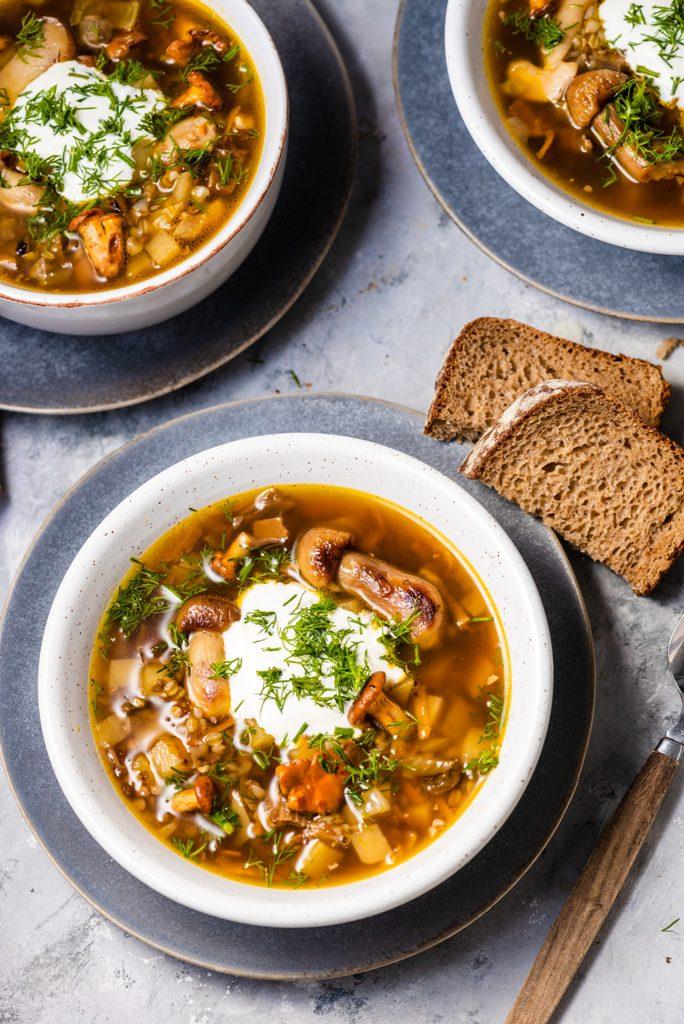 zupa grzybowa z kaszą